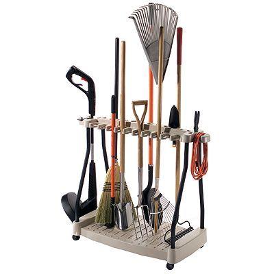 Подставка для лопат и граблей фото